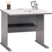 Bush Cubix 36 Desk, Pewter/White Spectrum, Fully assembled