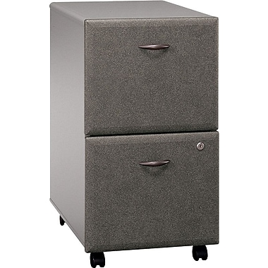 Bush Cubix 2-Drawer File Cabinet, Pewter/White Spectrum