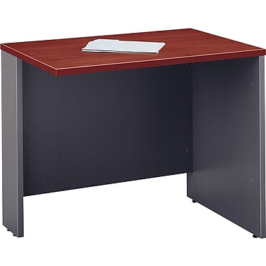 Bush Westfield Collection 36in. Return/Bridge, Hansen Cherry/Graphite Gray