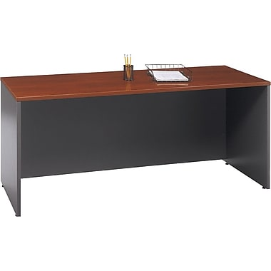 Bush Westfield 72in. Credenza, Hansen Cherry/Graphite Gray