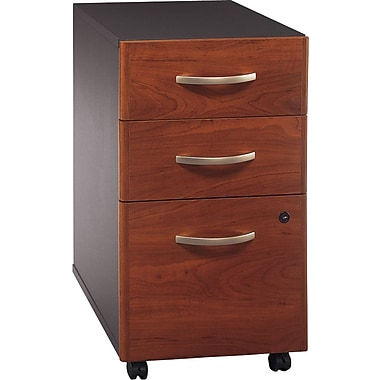 Bush Westfield 3-Drawer File, Hansen Cherry/Graphite Gray