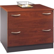Bush Business Westfield 36W 2Dwr Lateral File, Hansen Cherry, Pre-Installed