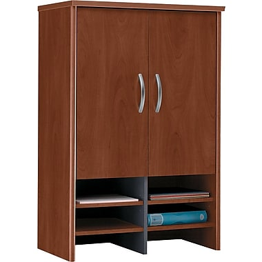 Bush Westfield 30in. Storage Hutch, Hansen Cherry/Graphite Gray, Fully assembled