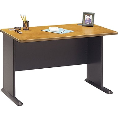Bush Cubix 48in. Desk, Natural Cherry/Slate Gray