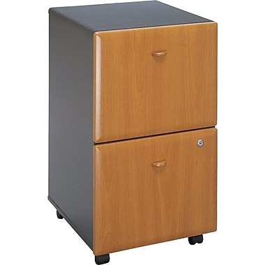 Bush Cubix 2Dwr Mobile Ped, Natural Cherry, Installed