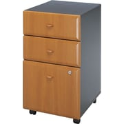Bush Cubix 3-Drawer File Cabinet, Natural Cherry and Slate Gray