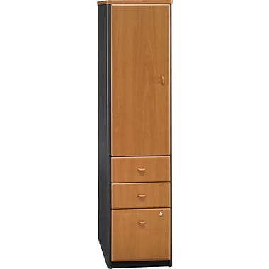 Bush Cubix Vertical Locker, Natural Cherry/Slate Gray