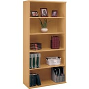 Bush Cubix 5-Shelf Bookcase, Danish Oak and Sage