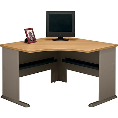 Bush Cubix 48in. Corner Desk, Danish Oak/Sage