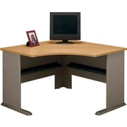 "Bush Cubix 48"" Corner Desk, Danish Oak and Sage"