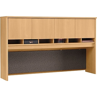 Bush Westfield 72in. 4-Door Hutch, Danish Oak, Fully assembled