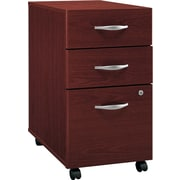 Bush Business Westfield 3wr Mobile Pedestal, Cherry Mahogany, Pre-Assembled