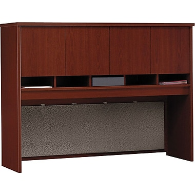 Bush Westfield 60in. 4-Door Hutch, Hansen Cherry/Graphite Gray, Fully assembled