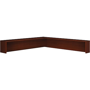 Bush Westfield Reception L-Hutch, Cherry Mahogany, Fully assembled
