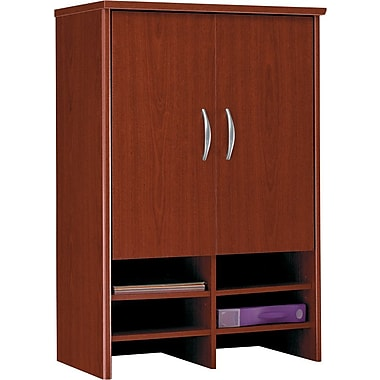 Bush Westfield 30in. Storage Hutch, Cherry Mahogany, Fully assembled