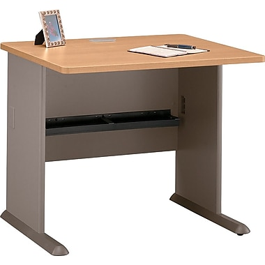 Bush Cubix 36in. Desk, Light Oak/Sage