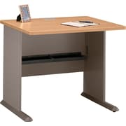 Bush Cubix 36 Desk, Danish Oak/Sage, Fully assembled