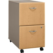 Bush Cubix 2-Drawer File Cabinet, Danish Oak/Sage, Fully assembled