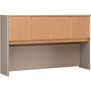 Bush Cubix 60 Hutch, Danish Oak/Sage, Fully assembled