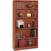 Bush Westfield 5-Shelf Bookcase, Autumn Cherry and Graphite Gray