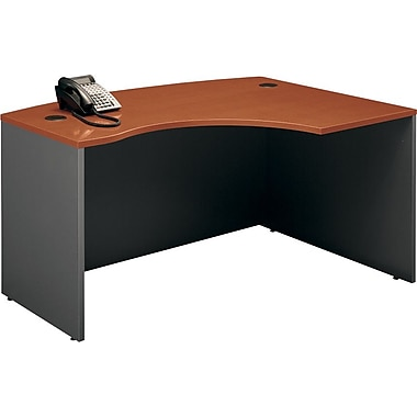 Bush Westfield Right L-Bow Desk, Autumn Cherry and Graphite Gray