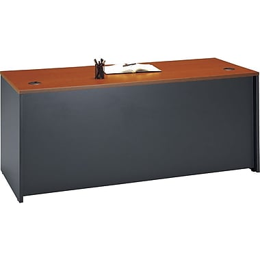 Bush - Bureau de direction de 72 po de la collection Westfield, cerisier d'automne et gris graphite