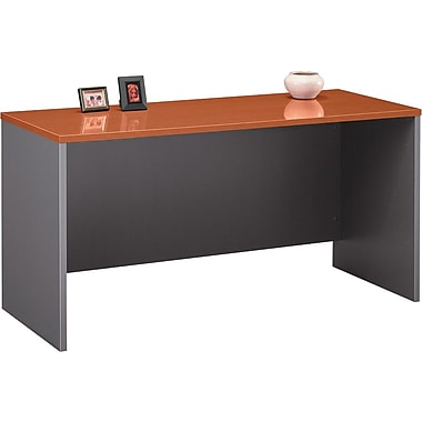 Bush Westfield 60in. Credenza, Autumn Cherry/Graphite Gray