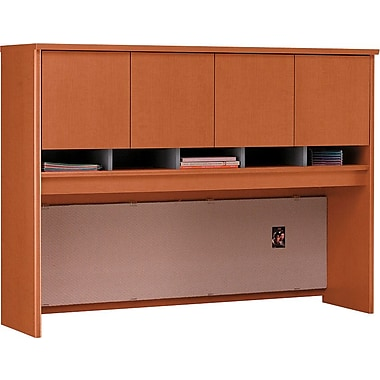 Bush Westfield 60in. 4-Door Hutch, Auburn Maple/Graphite Gray