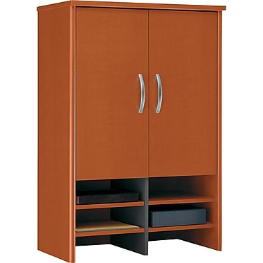 Bush Westfield 30in. Storage Hutch, Autumn Cherry/Graphite Gray, Fully assembled