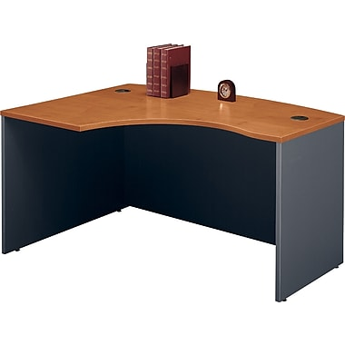 Bush Westfield Left L-Bow Front Desk , Natural Cherry and Graphite Gray