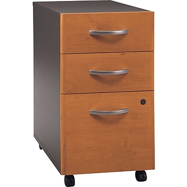 Bush Westfield 3Dwr Mobile Ped, Natural Cherry