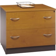 Bush Westfield Lateral File, Natural Cherry/Graphite Gray, Fully assembled