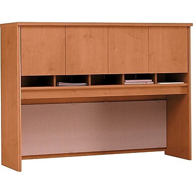 Bush Westfield 60in. 4-Door Hutch, Natural Cherry/Graphite Gray