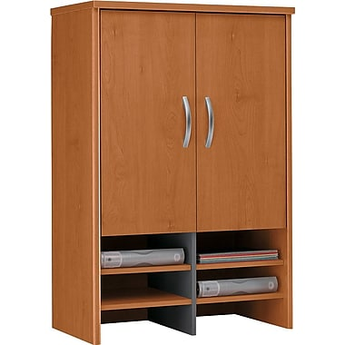 Bush Westfield 30in. Storage Hutch, Natural Cherry/Graphite Gray, Fully assembled