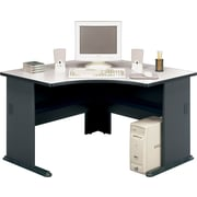 Bush Cubix 48 Corner Desk, Slate Gray/White Spectrum