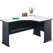 Bush Cubix Right L-Bow Desk, Slate Gray/White Spectrum, Fully assembled