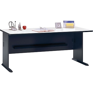 Bush Cubix 60in. Desk, Slate Gray/White Spectrum, Fully assembled