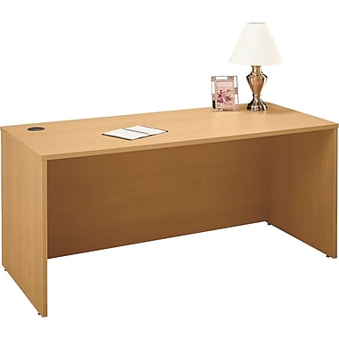 Bush Westfield 66in. Manager's Desk, Danish Oak, Fully assembled