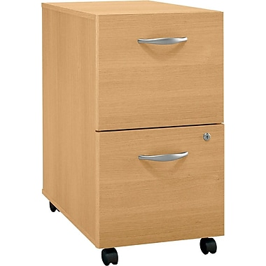 Bush Westfield 2-Drawer File, Light Oak