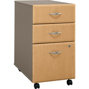 Bush Cubix 3-Drawer File Cabinet, Danish Oak/Sage, Pre-Assembled
