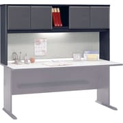 Bush Cubix 72 Hutch, Slate Gray/White Spectrum