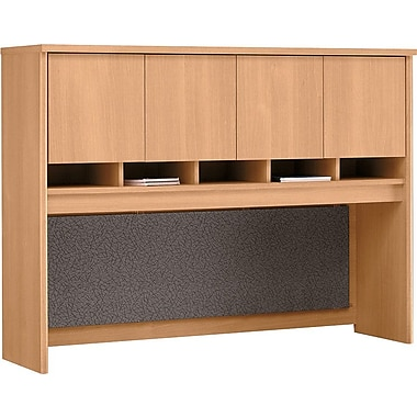 Bush Westfield 60in. 4-Door Hutch, Light Oak