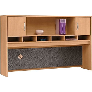 Bush Westfield 72in. 2-Door Hutch, Light Oak
