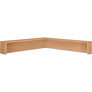 Bush Westfield Reception L-Shelf, Danish Oak