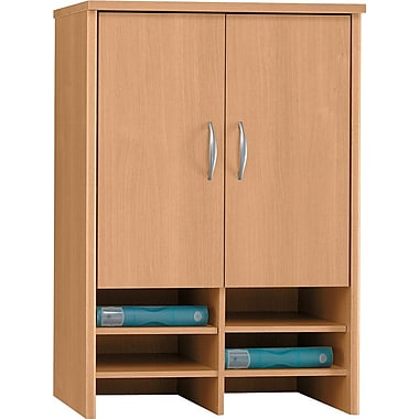 Bush Westfield 30in. Storage Hutch, Light Oak, Fully assembled