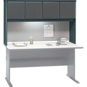 Bush Cubix 60 Hutch, Slate Gray/White Spectrum, Fully assembled
