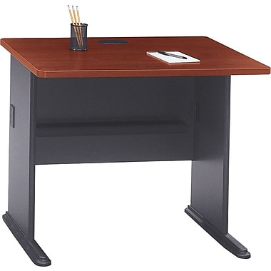Bush Cubix 36in. Desk, Hansen Cherry/Galaxy