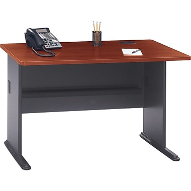 "Bush® Cubix Collection 48"" desk, Hansen cherry"