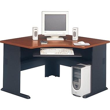 """Bush® Cubix Collection 48"""" corner desk, Hansen cherry"""