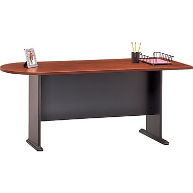 "Bush® Cubix Collection 72"" desk, Hansen cherry"